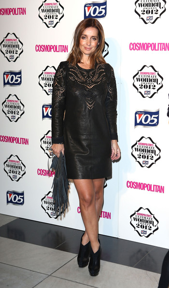Louise Redknapp Leather Dress
