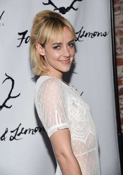 More Pics of Jena Malone Sheer Dress (2 of 30) - Jena Malone Lookbook - StyleBistro [hair,hairstyle,shoulder,beauty,blond,long hair,dress,eyelash,bun,style,jena malone,lemons,for love,performance,the carondelet house,los angeles,love and lemons annual skivvies party,skivvies,party,too faced]