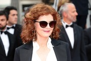 Susan Sarandon attended the Cannes Film Festival screening of 'Loveless' wearing her signature shoulder-length curls.