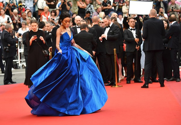 Winnie Harlow in Zuhair Murad at the 2017 Cannes Film Festival