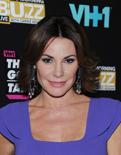 LuAnn de Lesseps Layered Razor Cut [hair,face,hairstyle,chin,eyebrow,shoulder,premiere,brown hair,electric blue,hair coloring,big morning buzz live,the gossip table premiere,new york city,luann de lesseps]