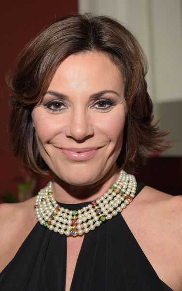 LuAnn de Lesseps Layered Razor Cut [hair,face,hairstyle,eyebrow,chin,lip,neck,brown hair,fashion accessory,necklace,luann de lesseps,cover party,warwick hotel,murals,new york city,resident magazine,cruise 2015,debut,new year edition,launch event]
