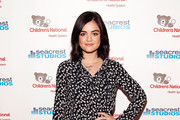 Lucy Hale Print Blouse