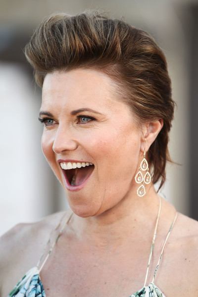 Lucy Lawless Fauxhawk [hair,face,hairstyle,eyebrow,skin,facial expression,chin,lip,beauty,nose,arrivals,lucy lawless,lgbti awards,australian,sydney opera house]