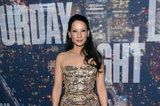Lucy Liu Strapless Dress