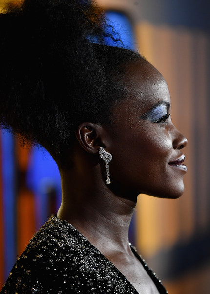 Lupita Nyong'o Dangling Diamond Earrings