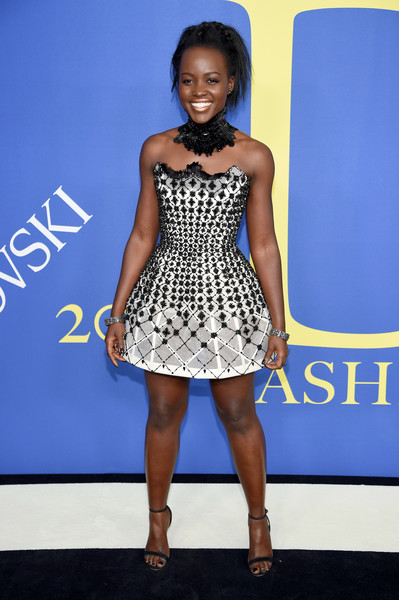 Lupita Nyong'o Strapless Dress