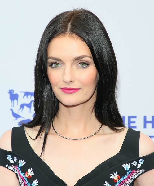 Lydia Hearst Long Straight Cut [the rescue,hair,face,hairstyle,eyebrow,black hair,lip,beauty,chin,shoulder,long hair,arrivals,lydia hearst,rescue,los angeles,california,humane society of the united states,paramount studios,gala]