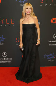 Rachel Zoe looked downright elegant at the Style Awards in a textured black strapless gown.