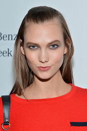 Karlie Kloss stuck to simple styling with this half-up half-down 'do during Mercedes-Benz Fashion Week.