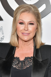 Kathy Hilton attended the MCM global flagship store opening wearing her hair in a neat lob.
