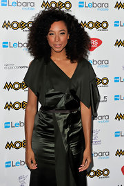 Corinne Bailey Rae showed off a curly shoulder length cut while attending the MOBO Awards.