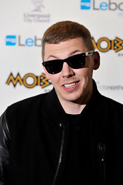 Professor Green walked the red carpet showing off a cool pair of shades and a bomber jacket.