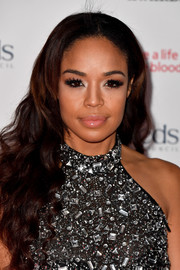 Sarah-Jane Crawford glammed it up with this flowing wavy 'do at the MOBO Awards.