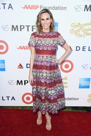 Keltie Knight looked darling in a multicolored embroidered midi dress at the Hollywood's Night Under the Stars event.