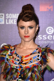 Kiesza attended the MTV EMAs wearing her hair in a fauxhawk updo.