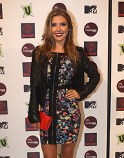 TV Personality Audrina Patridge channeled a rocker look at the MTV Snow Jam with messy layers.