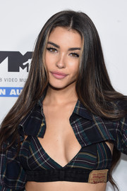 Madison Beer looked gorgeous with her long center-parted tresses at the MTV VMA kickoff concert.