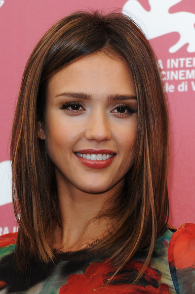 More Pics of Jessica Alba Medium Straight Cut (4 of 24) - Hair Lookbook - StyleBistro