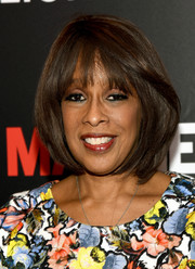 Gayle King sported a face-framing bob and wispy bangs at the 'Mad Men' special screening.