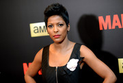 Tamron Hall styled her hair into a fauxhawk for the New York special screening of 'Mad Men.'