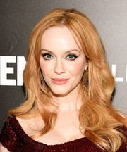 Christina Hendricks wore her hair loose with a center part and feminine waves during the 'Mad Men' special screening.