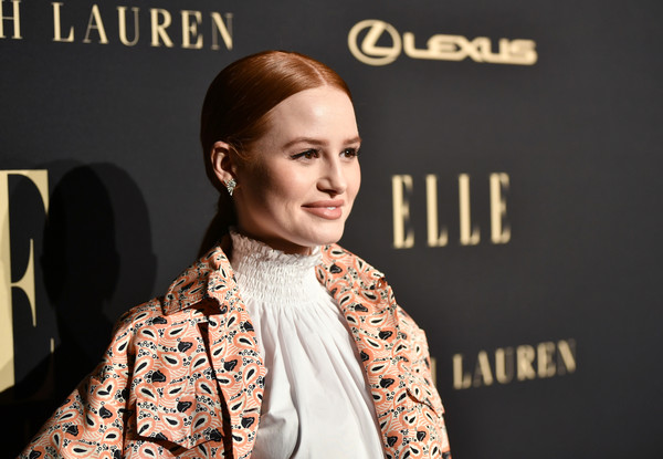Madelaine Petsch Ponytail [face,fashion,beauty,hairstyle,cheek,lip,human,fashion design,photography,street fashion,elle,lexus,los angeles,beverly hills,california,the four seasons hotel,lexus - arrivals,26th annual women in hollywood celebration,ralph lauren,madelaine petsch]