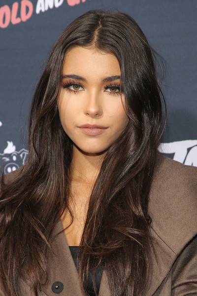 Madison Beer Long Center Part [janoskians: untold and untrue,hair,face,hairstyle,eyebrow,brown hair,long hair,layered hair,lip,black hair,beauty,guests,madison beer,untrue,california,los angeles,regency bruin theatre,awesomeness tv,janoskians: untold]