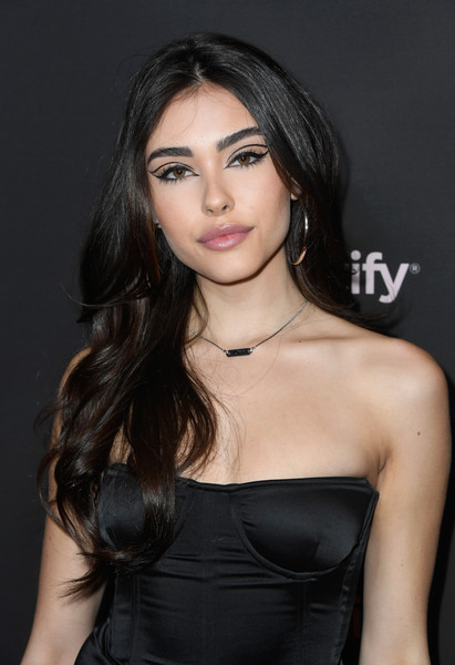 Madison Beer Long Wavy Cut [best new artist 2019,hair,hairstyle,beauty,black hair,eyebrow,lip,long hair,brown hair,shoulder,chin,spotify,madison beer,california,los angeles,hammer museum,red carpet,event]