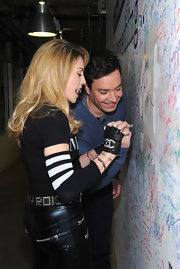 Madonna wore these fingerless gloves for her Facebook interview with Jimmy Fallon.