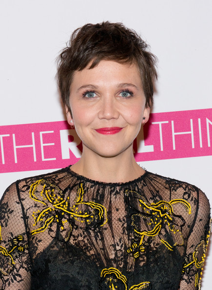Maggie Gyllenhaal Pixie [the real thing,hair,face,hairstyle,eyebrow,beauty,lip,chin,fashion,premiere,brown hair,maggie gyllenhaal,new york city,american airlines theatre,broadway]