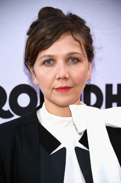 Maggie Gyllenhaal Messy Updo