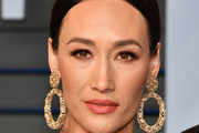 Maggie Q Gold Hoops