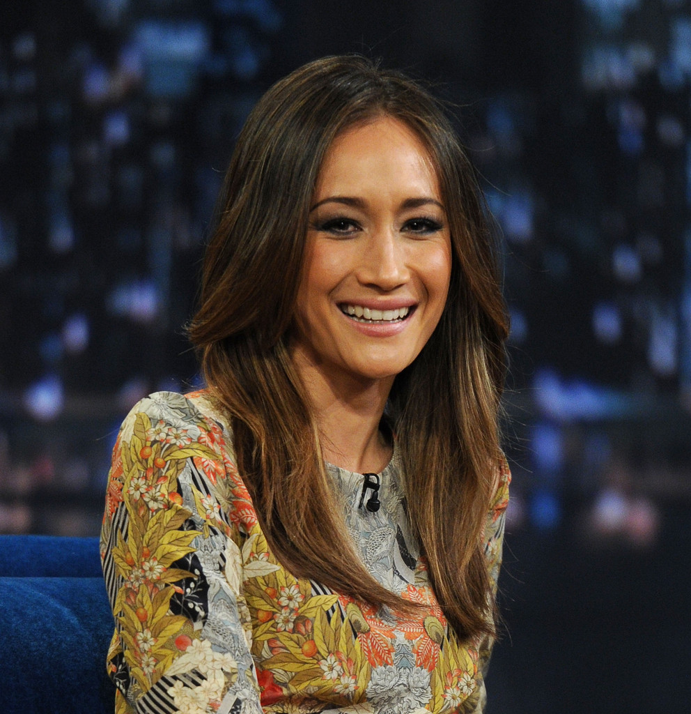 Maggie Q Long Center Part - Long Hairstyles Lookbook - StyleBistro