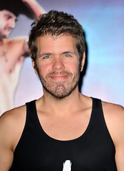 Perez Hilton sported a just-got-out-of-bed look at the premiere of 'Magic Mike.'