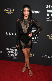 Jenna Dewan-Tatum kept the sex appeal going with a pair of barely-there sandals by Giuseppe Zanotti.