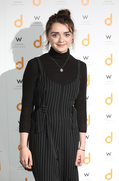 Maisie Williams Turtleneck [clothing,dress,little black dress,hairstyle,fashion,cocktail dress,formal wear,neck,event,fashion design,maisie williams,launch party,daisie,w london,england,leicester square]