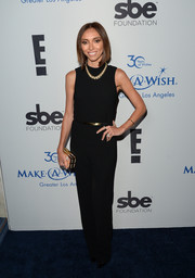 Giuliana Rancic chose a subdued yet elegant black jumpsuit for her Make-A-Wish Greater LA Gala look.