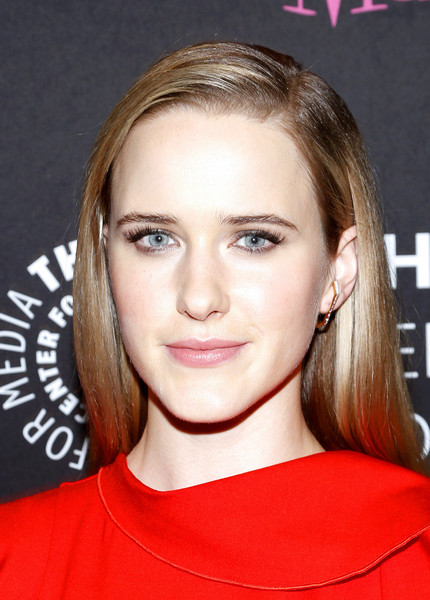 Rachel Brosnahan showed off a silken straight 'do at the Making Maisel Marvelous event.