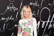 Malin Akerman Embroidered Dress