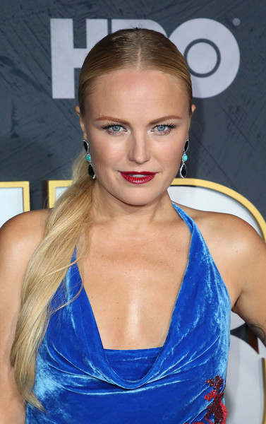 Malin Akerman Ponytail [hair,face,hairstyle,eyebrow,blond,lip,beauty,long hair,electric blue,shoulder,arrivals,malin akerman,post emmy awards,the plaza,los angeles,california,pacific design center,hbo,reception,post emmy awards reception]