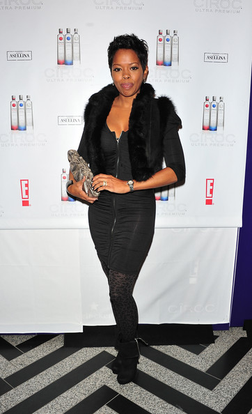 Malinda Williams Metallic Clutch