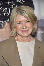 Martha Stewart stayed casual with this bob at the New York screening of 'The Man Who Knew Infinity.'