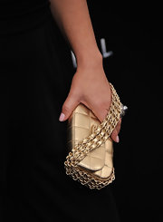 Marcia Gay Harden had an elegant chain strapped purse on hand at the 'Man of Steel' world premiere.