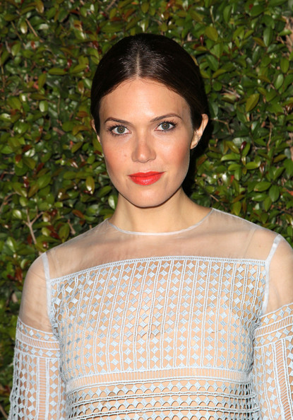 Mandy Moore Bright Lipstick