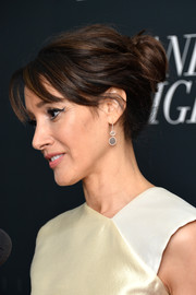 Jennifer Beals swept her tresses back into an elegant loose bun for the 'Manhattan Night' New York screening.