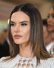 Alessandra Ambrosio showed off a sleek layered 'do at the Met Gala.