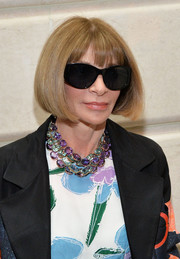 Anna Wintour attended the 'Manus x Machina: Fashion in an Age of Technology' press preview wearing her famous bob.
