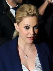 Shanna Moakler wore a sleek teased ponytail during New York Fashion Week.