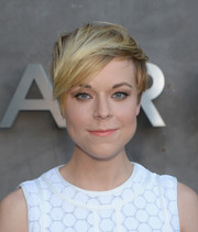 Tina Majorino looked edgy-chic with her short emo cut at the Marc by Marc Jacobs Fall 2014 preview.
